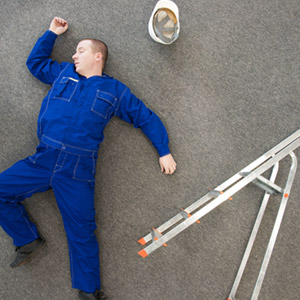 Man fallen off ladder
