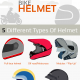 A Brief History of The Motorbike Helmet - Infographic