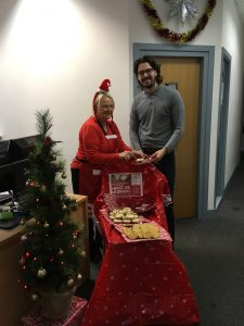 Jefferies hold mince pie morning for Headway